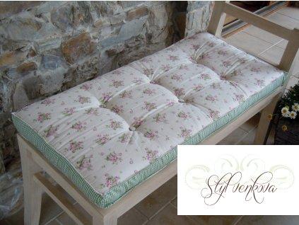 futonový sedák-kytička s kostičkou