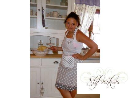 Kuchyňská zástěra puntík