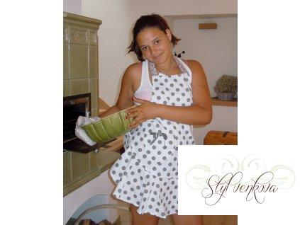 Kuchyňská zástěra s volánem