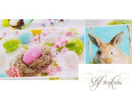 Velikonoční digi tisk s králíčky