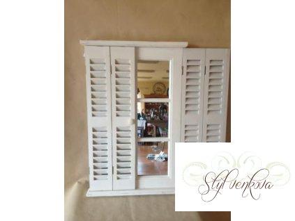 Zrcadlo s okenicí bílé