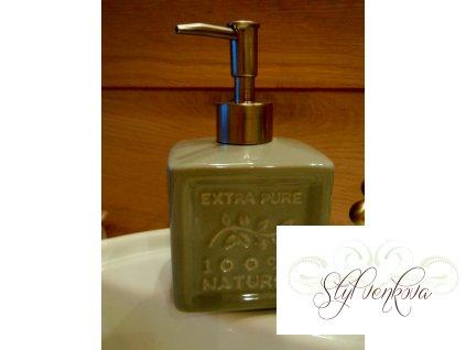 Dávkovač na mýdlo šedý