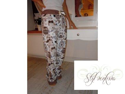 Pyžamové kalhoty - sova hnědá