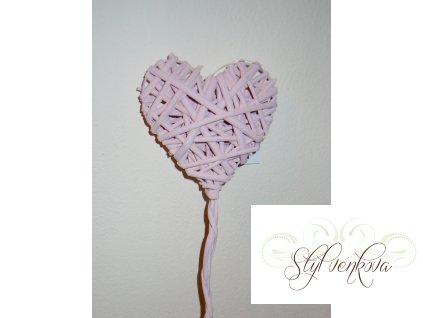 Srdce zápich růžové