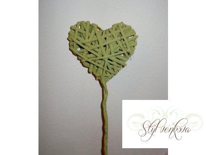 Srdce zápich zelené