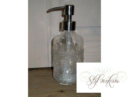 Dávkovač na mýdlo skleněné