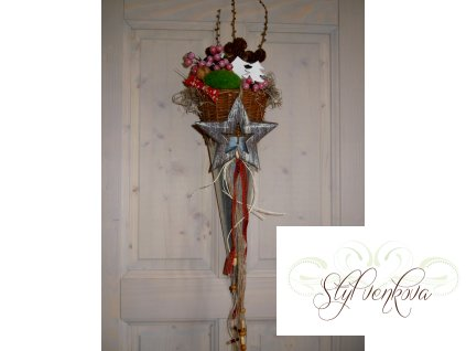 Vánoční kornout na dveře