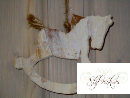 Koník bílý na zavěšení