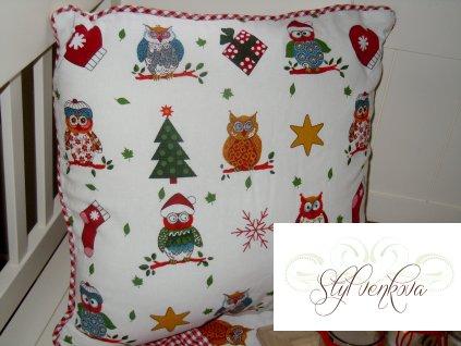 Polštář vánoční sovičky