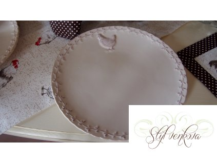 Dezertní talíř slípka