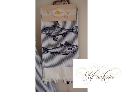 Kuchyňský ručník-utěrka ryby