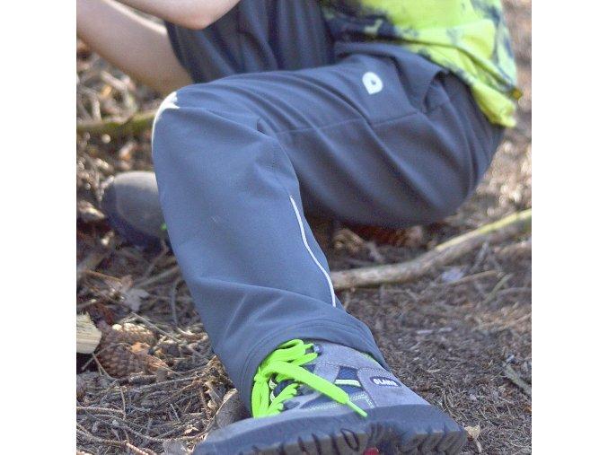 Dětské softshellové kalhoty Tandem ŠEDÁ