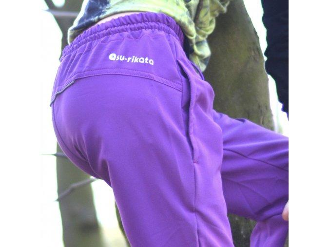 Dětské softshellové kalhoty Tandem FIALOVÁ