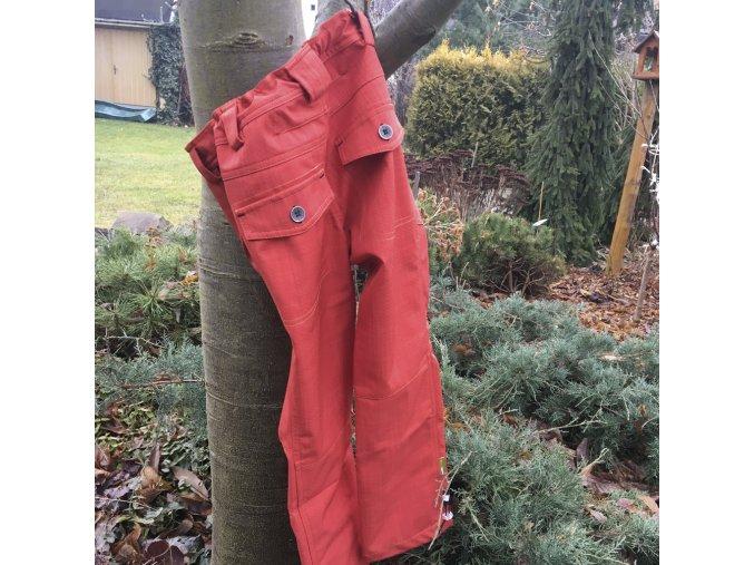 Dětské softshellové kalhoty Perfect CIHLOVÁ