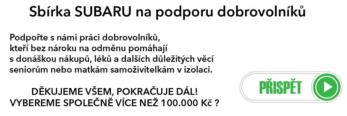 SUBARU POMÁHÁ - Sbírka pomoci