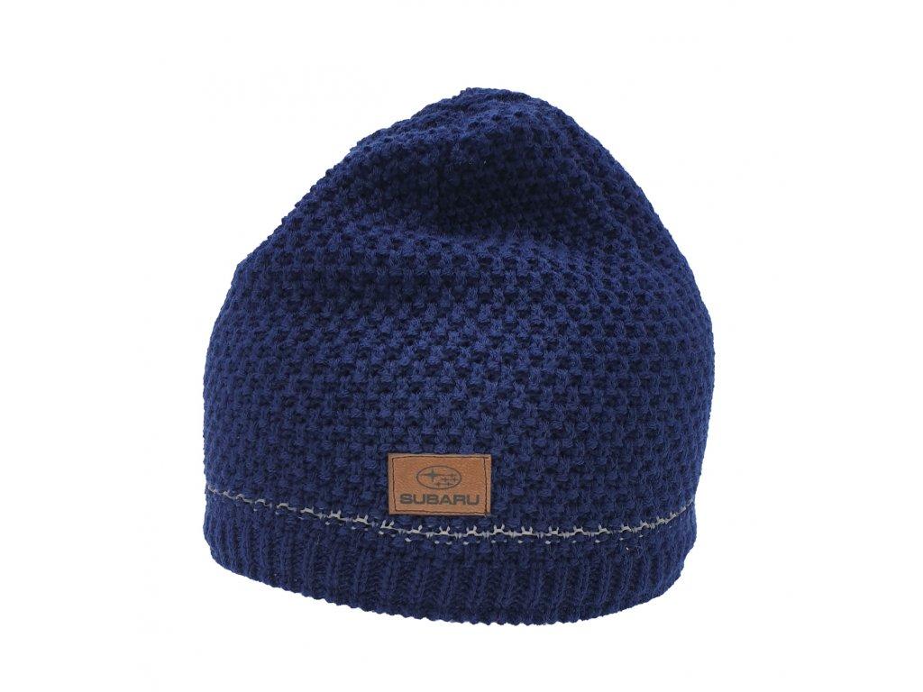 fa68f176797 Pletená modrá čepice s reflexními vlákny - SUBARU BUTIK