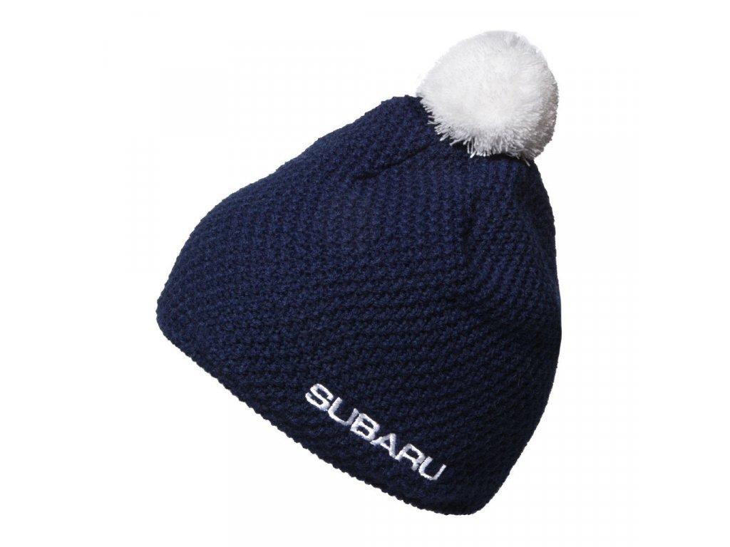 Pletená modrá čepice Subaru - SUBARU BUTIK 09372f8883