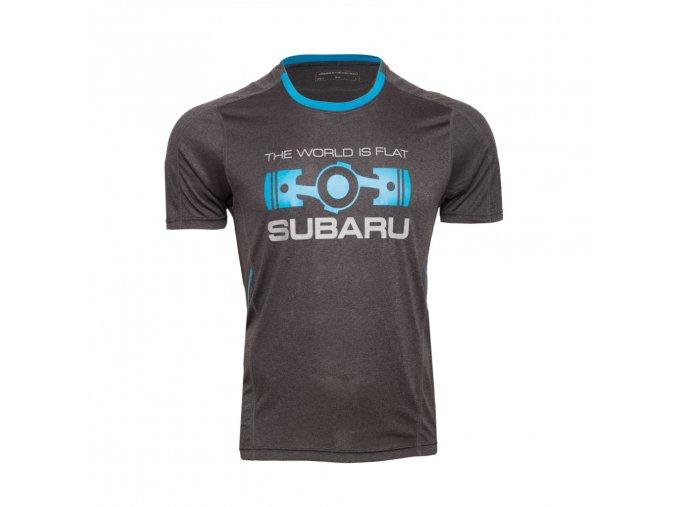Sportovní funkční tričko Subaru THE WORLD IS FLAT