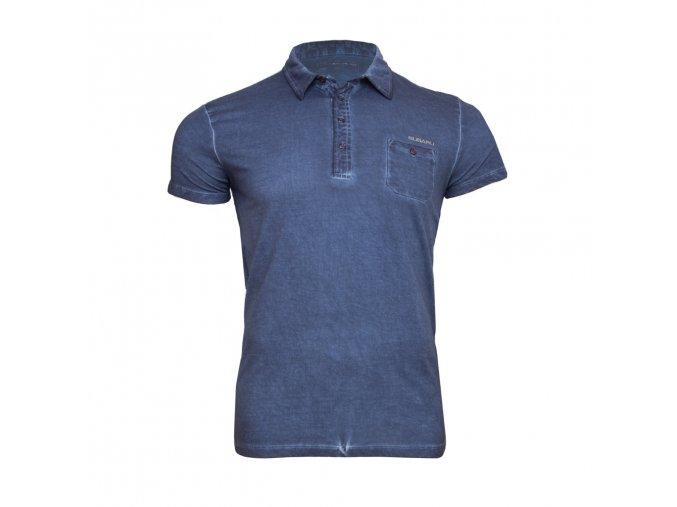Polo tričko s džínovým efektem