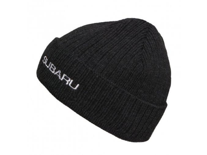 Pletená pánská čepice v černé barvě (Acryl)
