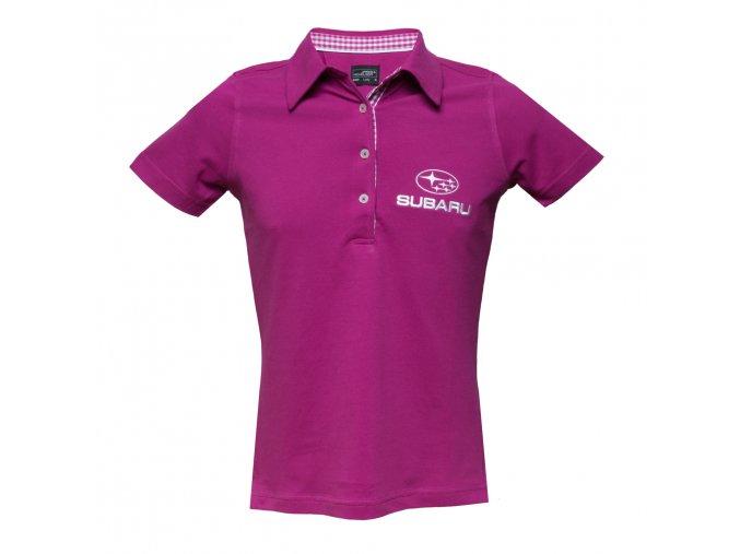 Polo tričko fialové
