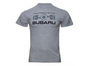 Tričko Subaru THE WORLD IS FLAT (Rozbaleno)