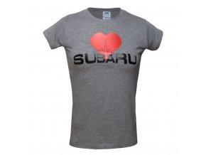 Dámské tričko I love Subaru