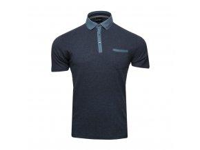 Polo tričko - melírované s džínovými detaily (Rozbaleno)