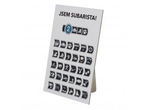 Dealerský stojánek Odznaky Pravého Subaristy (papírový)