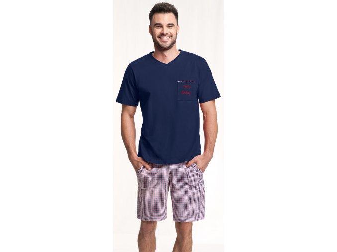 pánské pyžamo 787 granat 1