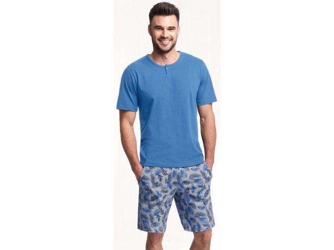 pánské pyžamo 730 modrá 1