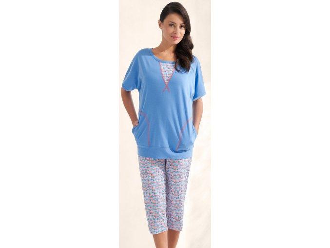 dámské pyžamo 586 modrá1