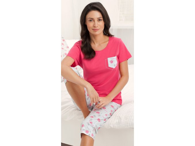 dámské pyžamo 535 červená1