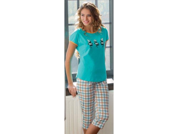 dámské pyžamo 600 tyrkys1