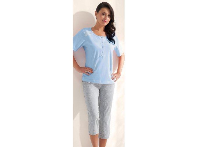 dámské pyžamo 559 modrá1