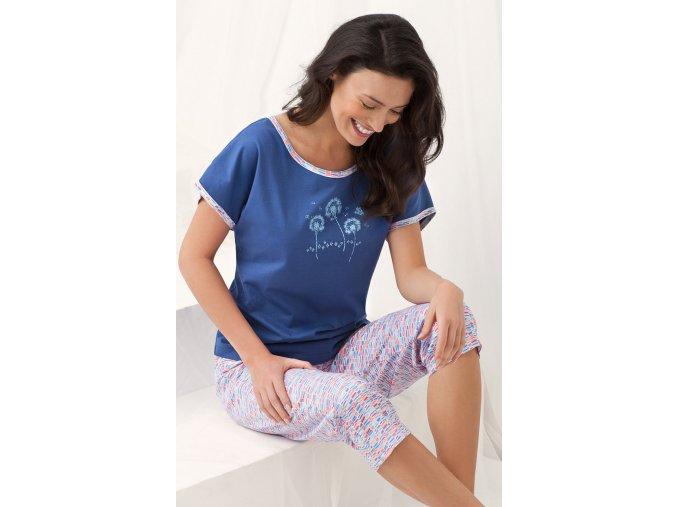 dámské pyžamo 656 modrá1