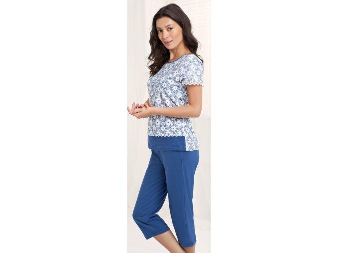 dámské pyžamo 542 modrá1