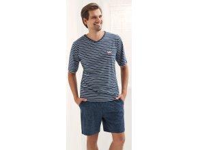 pánské pyžamo 703 modrá1