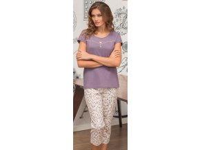dámské pyžamo 671 fialová1