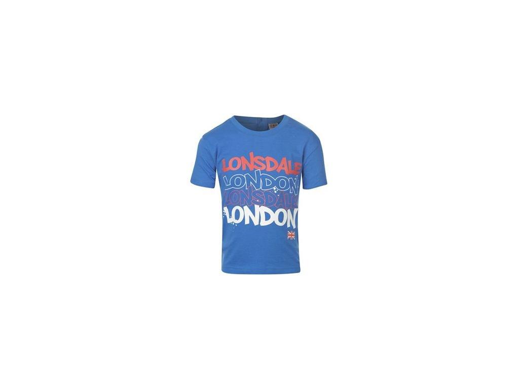 Tričko Lonsdale modré, nové