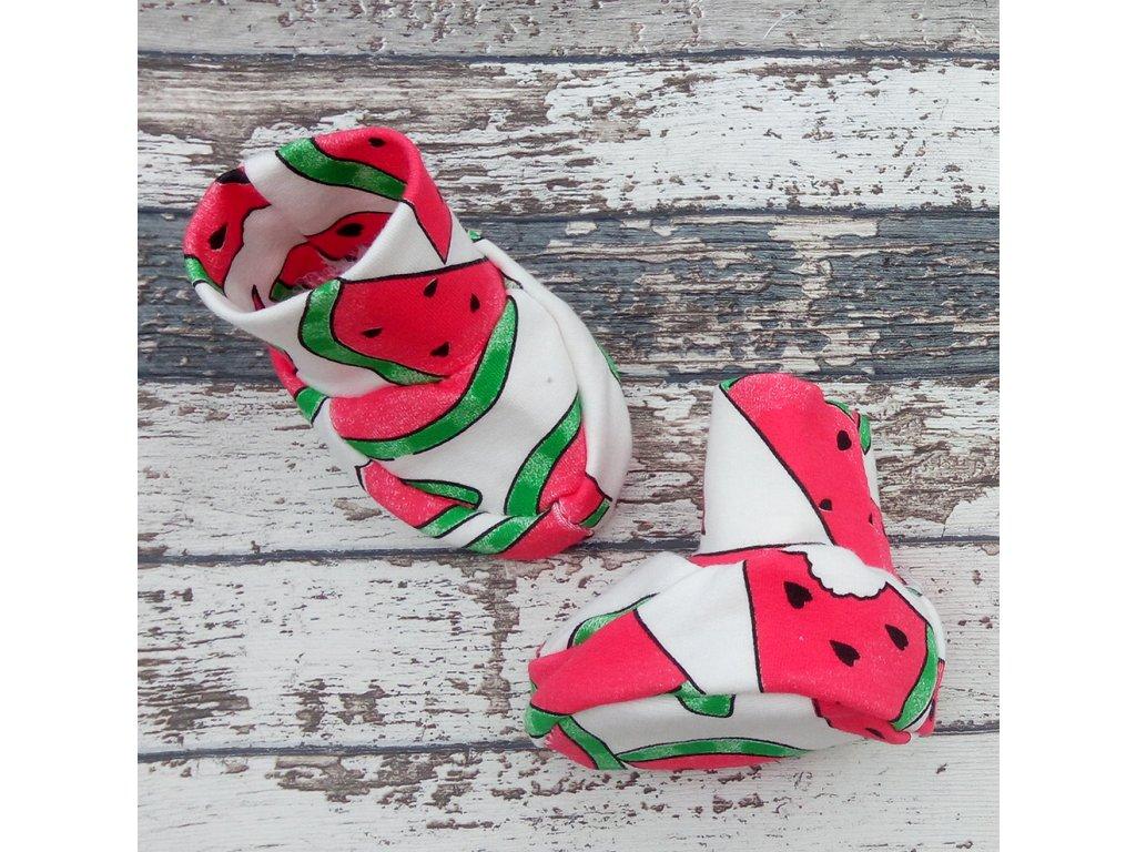 Capáčky látkové Yháček, melouny-FOTO pouze ilustrační