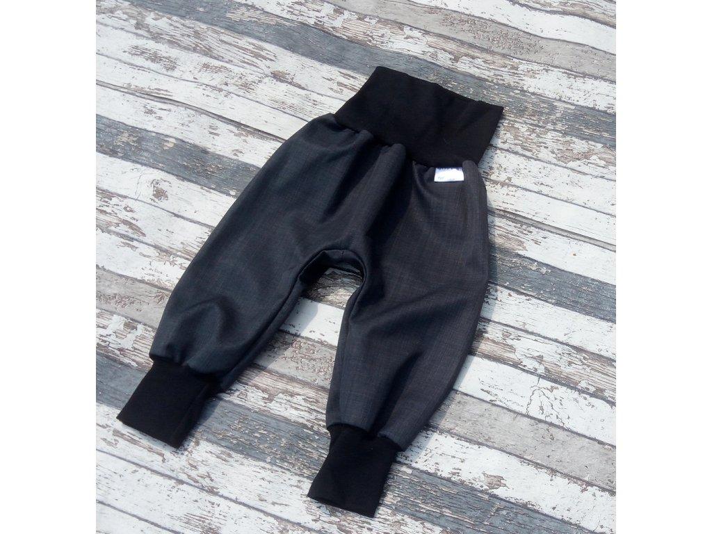 Softshellové kalhoty Yháček, podzim, temně šedá/černá