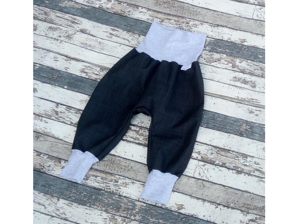 Softshellové kalhoty Yháček, podzim, temně šedá/šedé melé