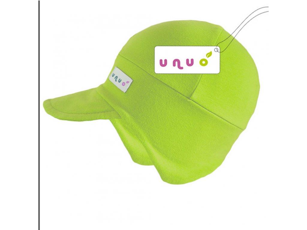 Světle zelená čepička Unuo