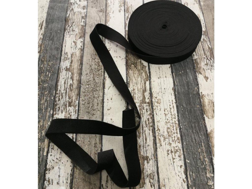Hladká pruženka 25 mm - černá
