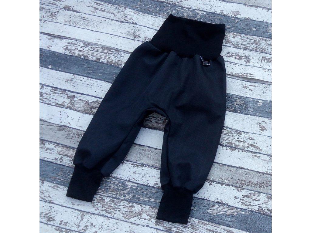 Softshellové kalhoty Yháček, zimní, černá/černá