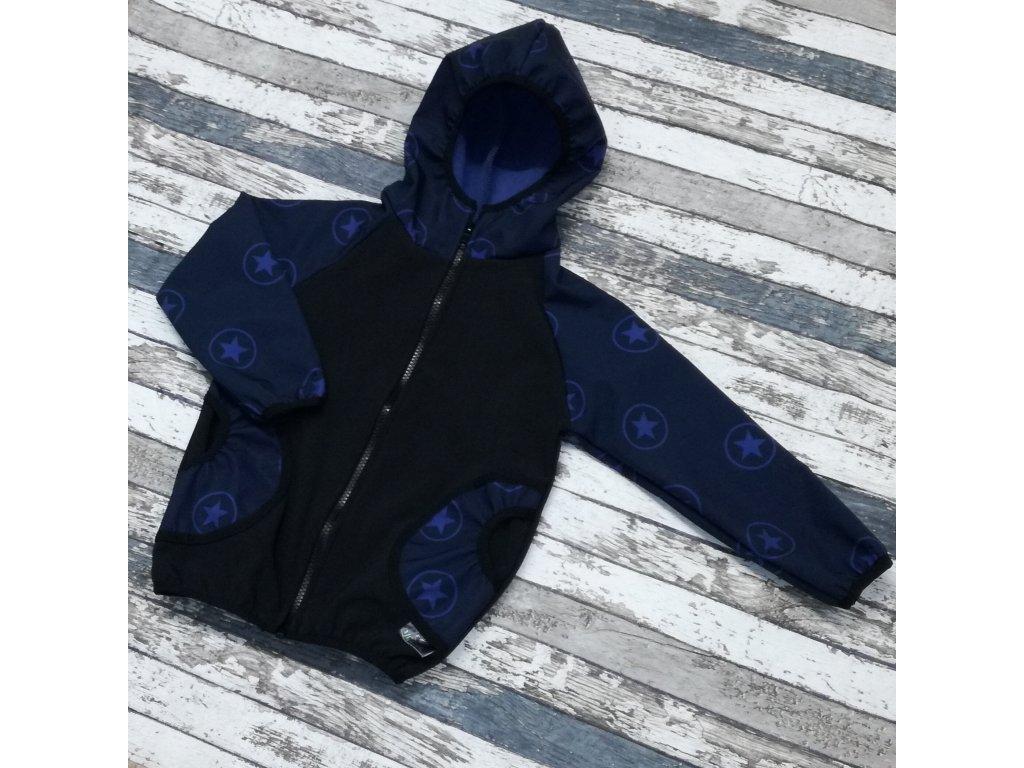 Softshellová bunda Yháček, hvězdy na tmavě modré