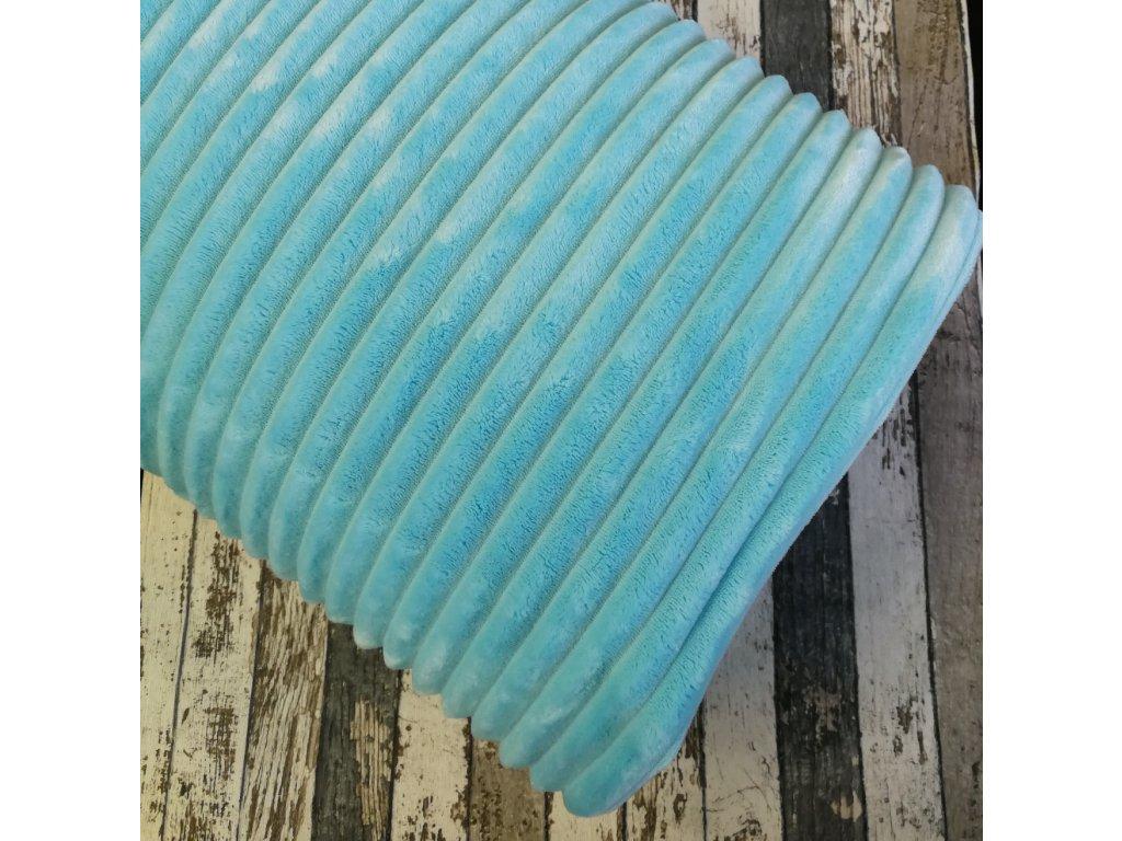 Minky, proužky modrá
