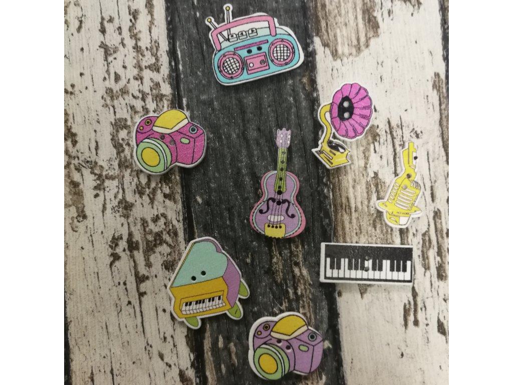 Knoflík dětský, hudební nastroje