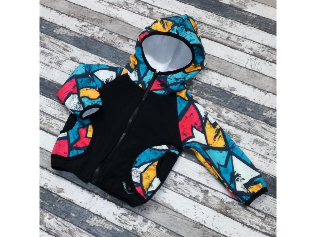 Softshellová bunda Yháček, zimní, graffiti